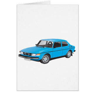 Saab 99 blue card