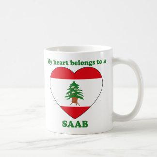 Saab Basic White Mug
