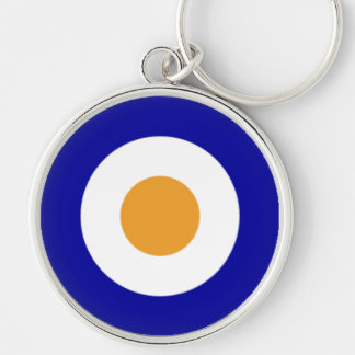 SAAF Roundel 1927-1947 Silver-Colored Round Key Ring