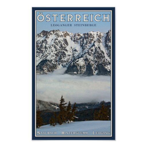 Saalbach - Valley Fog Poster
