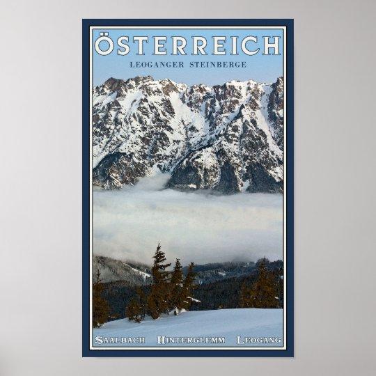 Saalbach - Valley Fog Poster