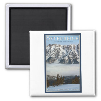 Saalbach - Valley Fog Square Magnet