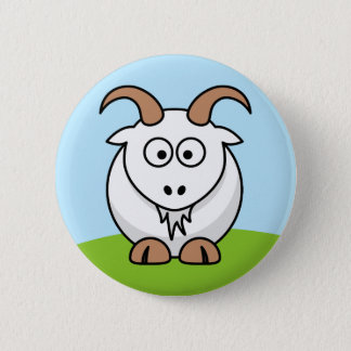 Saanen Goat 6 Cm Round Badge