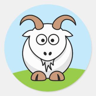 Saanen Goat Classic Round Sticker