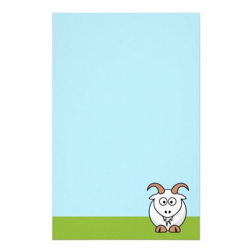 Saanen Goat Custom Stationery
