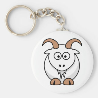 Saanen Goat Key Ring
