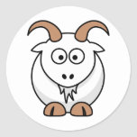 Saanen Goat Round Stickers