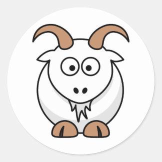 Saanen Goat Round Sticker