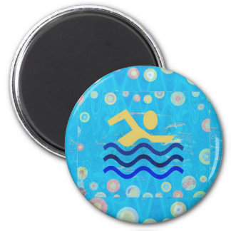 SAANVI  Cool mind in hot times 6 Cm Round Magnet