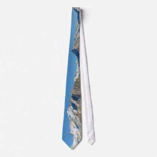 Saas Fee Mountain Panorama Tie