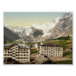 Saas Fee, the hotels, Valais, Alps of, Switzerland Print