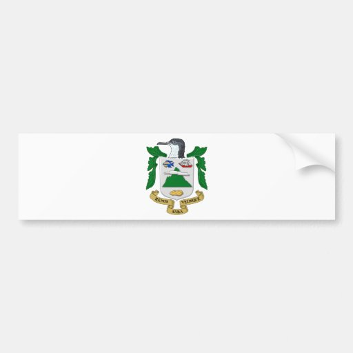 Saba Coat of Arms Bumper Stickers