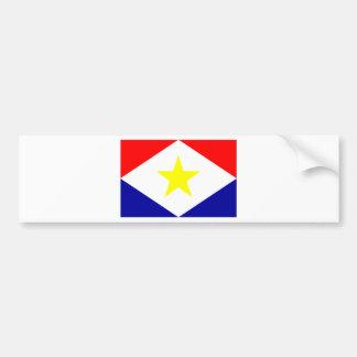 Saba Flag Car Bumper Sticker