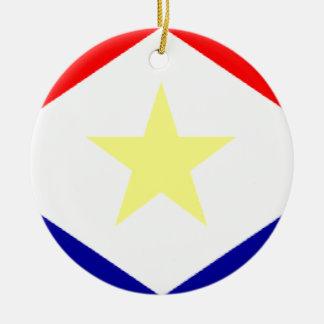 Saba Flag Christmas Ornament