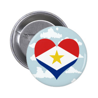 Saban Flag on a cloudy background 2 Inch Round Button