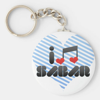 Sabar fan basic round button key ring