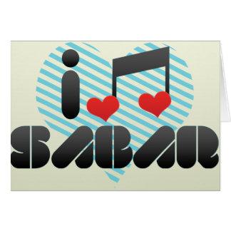 Sabar fan greeting card