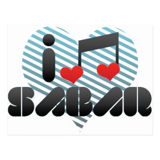 Sabar fan postcard