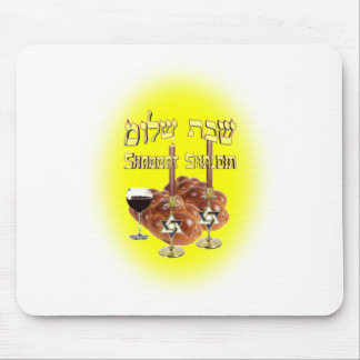 Sabbath Table, Shabbat Shalom Mouse Mat
