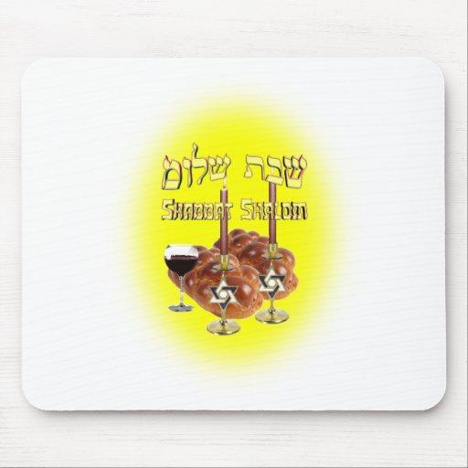 Sabbath Table, Shabbat Shalom Mouse Pads