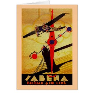 Sabena Art Deco Compass Card