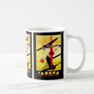Sabena Art Deco Compass Classic White Coffee Mug