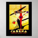 Sabena Art Deco Compass Poster