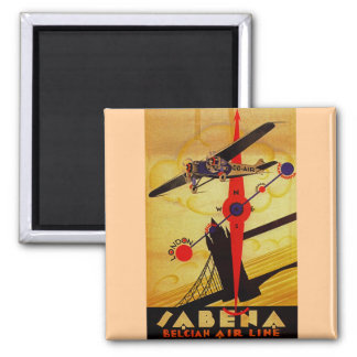 Sabena Art Deco Compass Square Magnet