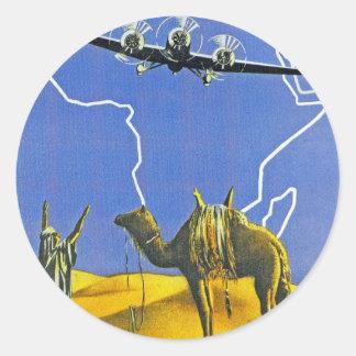 Sabena ~ Belgique Congo Classic Round Sticker