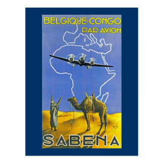 Sabena ~ Belgique Congo Postcard