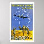 Sabena ~ Belgique Congo Poster