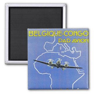 Sabena ~ Belgique Congo Square Magnet