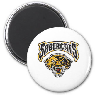 Sabercats Youth Football & Cheer 6 Cm Round Magnet