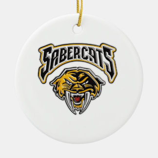 Sabercats Youth Football & Cheer Round Ceramic Decoration