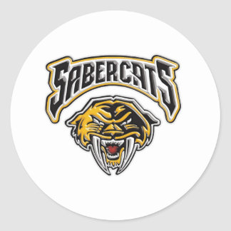 Sabercats Youth Football & Cheer Round Sticker