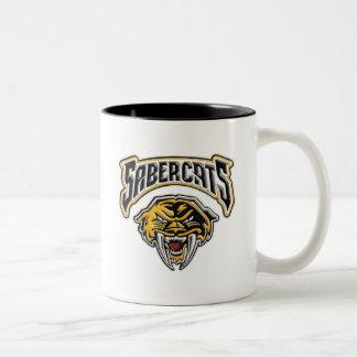 Sabercats Youth Football & Cheer Two-Tone Coffee Mug