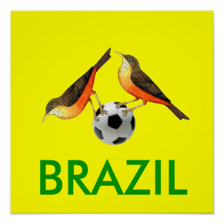 Sabia with ball Brasil futebol lovers gifts Posters