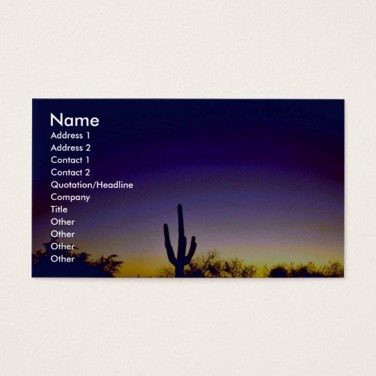 Sabino Canyon Arizona Sunset Business Card
