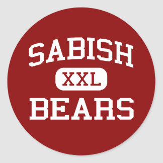 Sabish - Bears - Junior - Fond Du Lac Wisconsin Round Sticker