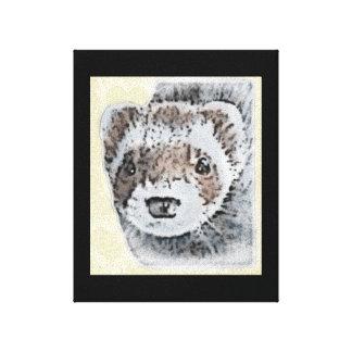 Sable Ferret Picture Stretched Canvas Prints