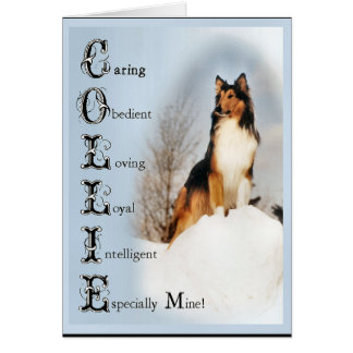 Sable Rough Collie Gifts Card