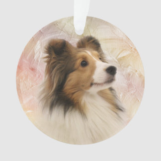 Sable Sheltie face Ornament