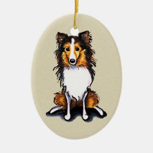 Shetland Sheepdog Christmas Tree Decorations & Ornaments ...