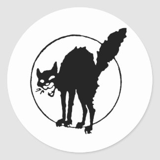 Sabo Cat Round Sticker