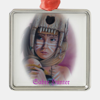 Sabre Hunter Silver-Colored Square Decoration