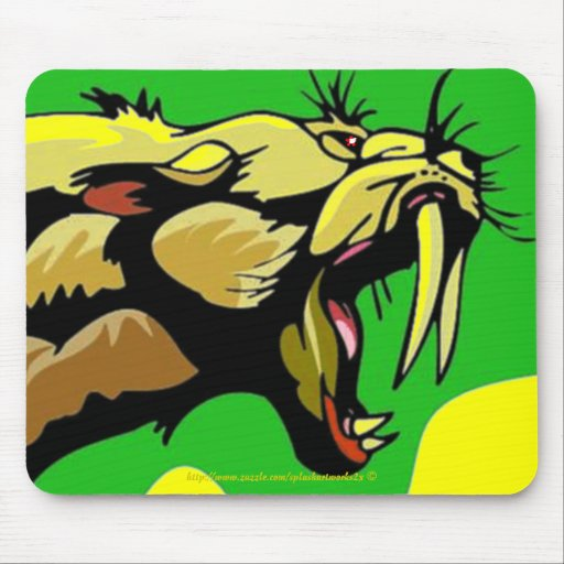 Sabre Tooth Tiger Mousepad by Splashartworks2x