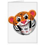 sabre-toothed tiger greeting card