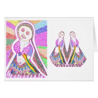 SABRINA  Dream Girl in Pink Greeting Card