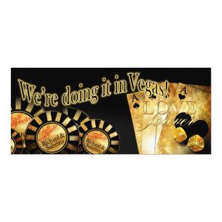 Sabrina Las Vegas Deluxe Wedding 10 Cm X 24 Cm Invitation Card
