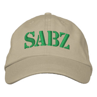 Sabz Green Embroidered Hat
